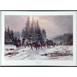 To Winter Quarters Alan Fearnley Civil War Art Print