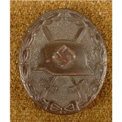 BLACK NAZI WOUND BADGE REPRO