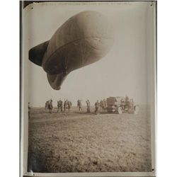 WWI BRITISH PRESS RELEASE OF OBSERVATION BALLOON ASCENT