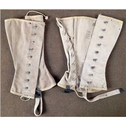 Pair of 1943 WWII Diana Legging Corporation Spats