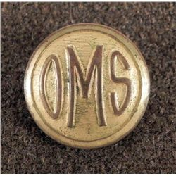 OMS Onarga Military School Illinois Coat Button 1919