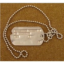 WWII US Army Dog Tag Named