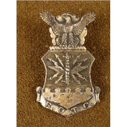 ROTC Badge Silver w/ Eagle 1940s