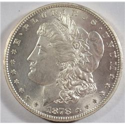 1878 7F MORGAN DOLLAR GEM FROSTY BU! REVERSE
