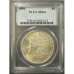 1896 MORGAN SILVER DOLLAR, PCGS MS64 SUPER