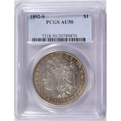 1892-S MORGAN DOLLAR PCGS AU50 ORIGINAL AND NICE