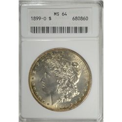 1899-O MORGAN DOLLAR ANACS MS 64, THIS COIN IS MS 65 ALL THE WAY!