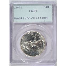 1941 WALKING LIBERTY HALF DOLLAR PCGS PROOF 65 RATTLER HOLDER