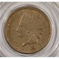 1864 INDIAN ONE CENT CN XF-AU NICE