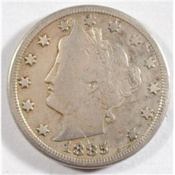 1885 LIBERTY NICKEL CHOICE FINE, LOTS OF HAIR DETAIL. VERY NICE COIN
