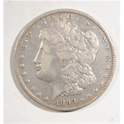 1893-O MORGAN SILVER DOLLAR VF NICE!