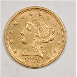 1878 $2.50 LIBERTY GOLD CH BU ORIGINAL!