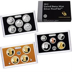 2012 U.S. SILVER 14 PIECE PROOF SET, ORIGINAL MINT PACKAGING