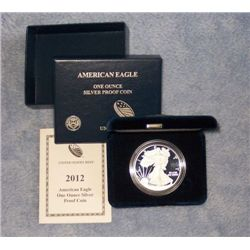 2012  W ( WEST POINT ) PROOF AMERICAN SILVER EAGLE