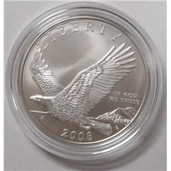 2008 BALD EAGLE UNCIRCULATED COMMEMORATIVE SILVER DOLLAR