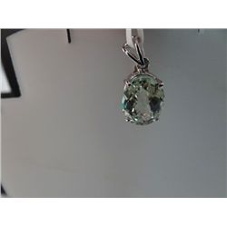 15.00 CTW GREEN AMETHYST PENDANT .925 STERLING SILVER
