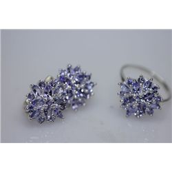 44.27 CTW TANZANITE SET .925 STERLING SILVER