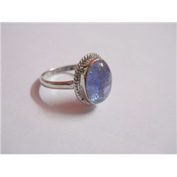 19.45 CTW TANZANITE RING .925 STERLING SILVER