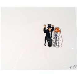 Word of Caution Animation Cel Original Bride and Groom