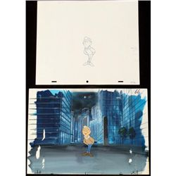 Merv Griffin Animation Background Orig Drawing Cel Art