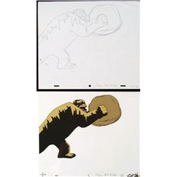 Cel Original Herculoids Drawing Igoo Smash Animation