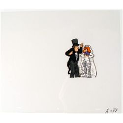 Cel Original Tread Lightly Animation Bride and Groom