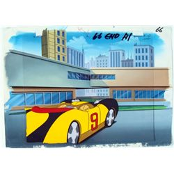Speed Racer Background Original Cel Get Ready Animation
