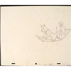 Original Scooby Doo Animation Drawing Magic Carpet Ride