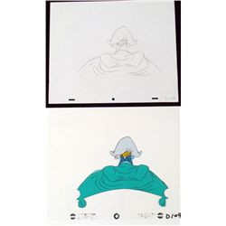Under Covers Donald Duck Cel Drawing Orig Animation Art