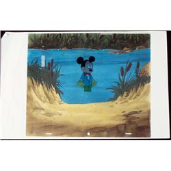 Mickey Mouse Original Cel Animation Ghostly Background