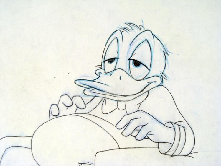 Original Donald Duck Drawing 2 Donald Duck Original