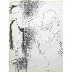 "Picasso ""The Artist And His Model"" Original Lithograph"