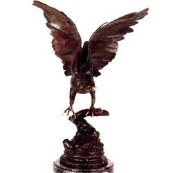 """Eagle"" Bronze Sculpture - Moigniez"