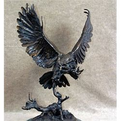 """Owl"" Bronze Sculpture - Moigniez"