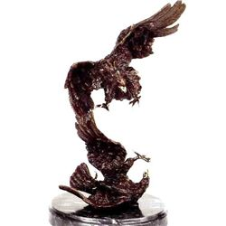 """Eagle On Tree"" Bronze Sculpture - Moigniez"