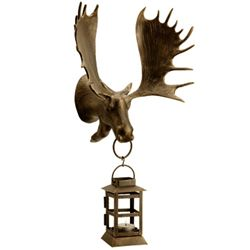 Moose Wall Mount Lantern Candle Holder