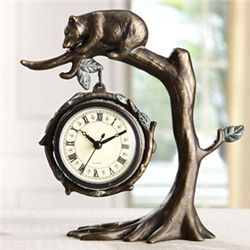 Bear In Tree Clock