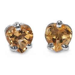 0.90 Carat Genuine Citrine .925 Sterling Silver Earrings