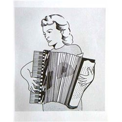 "Lichtenstein ""Girl With Accordion"""