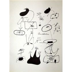 "Miro Lithograph ""Constellations D'une Femme Assise"""