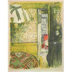 "Vuillard Lithograph ""Interieur A La Suspension"""