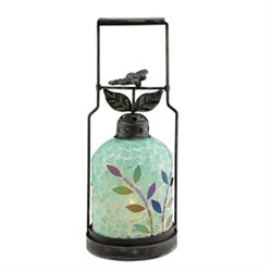 Dragonfly Mosaic Glass Lantern / Candle Holder