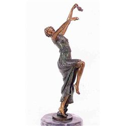 """Comedy Tragedy Dancer"" Bronze Sculpture - Duchamps"
