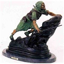"""Arab On Rock"" Bronze Sculpture - Gulleman"