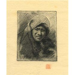 Menpes  Lithograph On Japon Paper