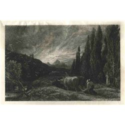 "Palmer ""The Early Ploughman"" Original Etching"