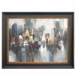"""CITYSCAPE - 3"" - ORIGINAL OIL ON CANVAS"
