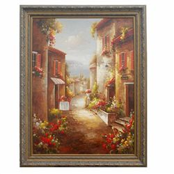 TUSCAN STREET  - ORIGINAL OIL ON CANVAS