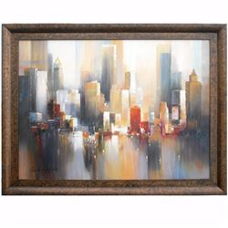 """CITYSCAPE - 4"" - ORIGINAL OIL ON CANVAS"