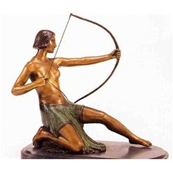 """After The Shot"" Bronze Sculpture - Chiparus"